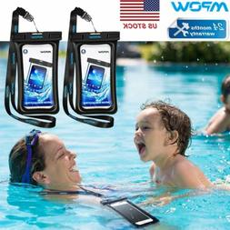 1 2 Pack MPOW Floating Waterproof Bag Underwater Pouch Dry C