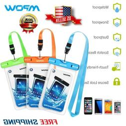 1-3 Pcs Mpow Waterproof Case Phone Dry Bag Punch + Lanyard f