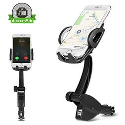 Amoner 3-in-1, Universal 360-Degree Goose-neck Car Mount Cha