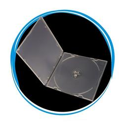 100 Pack 5.2mm Single Super Clear CD DVD R CDR DVDR Disc PP