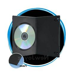 100 Pack Black 7mm Slim Single CD DVD Movie Case Storage Box