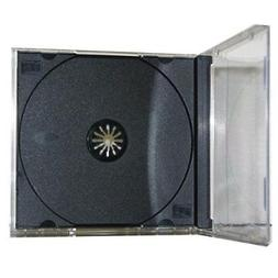 100 Pack Premium Standard Single Black CD Jewel Cases with a