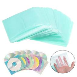 100pcs CD DVD Disc Double Side Cover Storage Case Plastic Ba