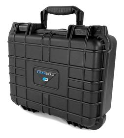 "CASEMATIX 13"" Waterproof Microphone Case Fits Shure , AKG ,"