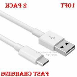 2 PACK 10FT Type C Fast Charging Cable USB-C Rapid Cord Powe
