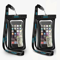 2 PACK Mpow Floating Waterproof Bag Underwater Pouch Dry Cas