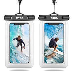 ?2 Pack?JOTO Floating Waterproof Phone Pouch, Universal Wate