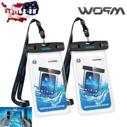 "2 PACK Mpow Universal Waterproof Case IPX8 Waterproof 6"" Pho"