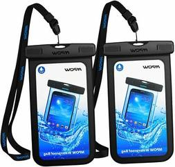 2-Pack Mpow Universal Waterproof Case Phone Pouch Dry Bag fo