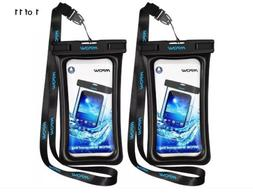 Mpow 2-Pack Universal Waterproof Phone Pouch Case Dry Bag iP