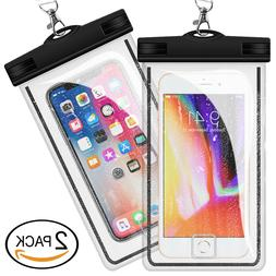 2 PCS Universal Waterproof Phone Case Phone Dry Bag Pouch Se