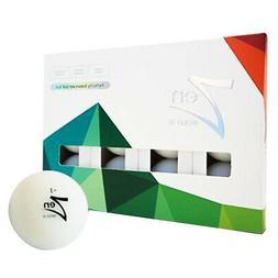 2018 DuoTrac Zen Bold 3 Golf Balls 1 Dozen White NEW
