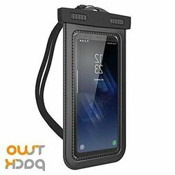 """Waterproof Case Cellphone Dry Bag Pouch up to 6.0"""" Black"""