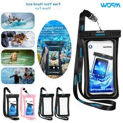 2PC Mpow Waterproof Case IPX8 Phone Pouch Dry Bag Universal