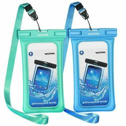 Mpow 2Pcs Floating Waterproof Case IPX8 Universal Phone Pouc