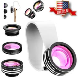 Mpow 3 in 1 Clip On 180 Degree Fisheye Lens Wide Angle Macro