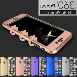 For iPhone 6s 7/8 Plus 360° Protection Acrylic Hard Case +