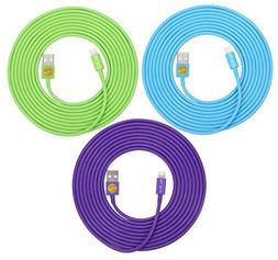 3PCS of HEAVY-DUTY Lightning to USB Sync Charger Data Cable