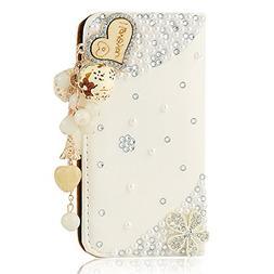 Mavis's Diary 3D Handmade Bling Crystal Love Heart Pendant S