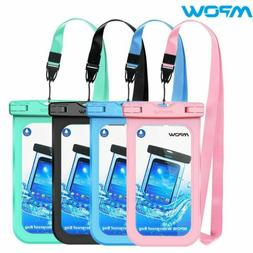 Mpow 4Pcs Waterproof Cell Phone Case Pouch Dry Bag Shockproo