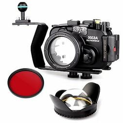 Meikon 40m/130ft Waterproof Underwater Camera Housing Diving