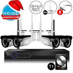 CamView 4CH 720P Wireless Security CCTV Surveillance System