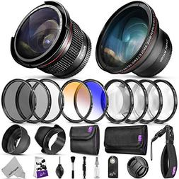 52MM Professional Accessory Kit for Nikon DSLR Bundle with A