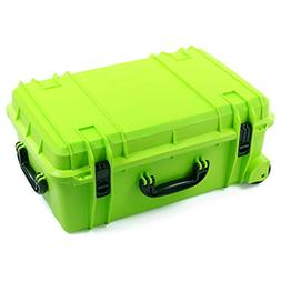 Seahorse 920 Waterproof Wheeled Hard Case, Lime Green
