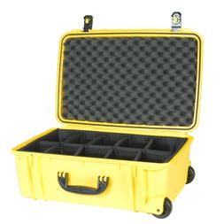 920 Yellow Seahorse SE920 Case. With padded dividers & Pelic