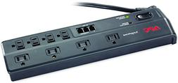 APC 8-Outlet Surge Protector Power Strip with Telephone and