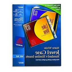Avery CD/DVD Jewel Case Inserts for Ink Jet Printers, White,