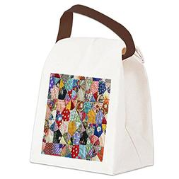 CafePress - Colorful Patchwork Quilt Canvas Lunch Bag - Canv