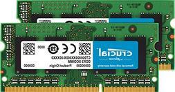 Crucial 16GB Kit  DDR3/DDR3L 1600 MT/S  Unbuffered SODIMM 20