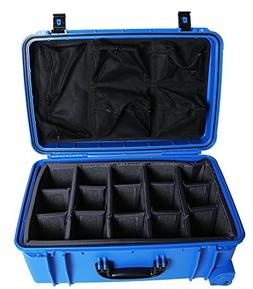 Dark Blue Seahorse SE920 case with padded dividers and Lid o