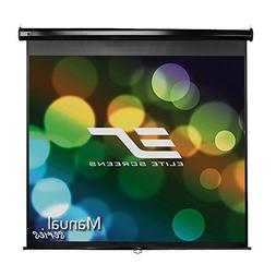 Elite Screens Manual Series, 99-INCH 1:1, Pull Down Manual P