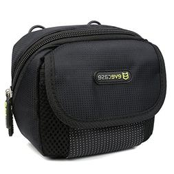 Evecase Black Medium Compact Digital Camera Pouch Nylon Case