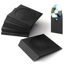 Flexzion 100 Pack CD DVD Thick Paper Sleeves  Standard Envel