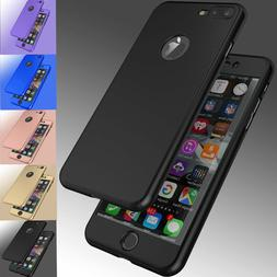 For iPhone 8 6S 7 / 7 Plus Ultra Thin Slim Hard Case Cover+