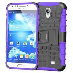 Galaxy S4 Case,High Impact Heavy Duty Rugged Dual Layer Hybr