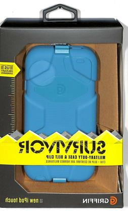 Griffin Pool Blue Survivor Case + Belt Clip for iPod touch