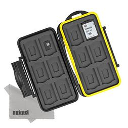 Kupton Memory Card Case Water-Resistant Shockproof Carrying
