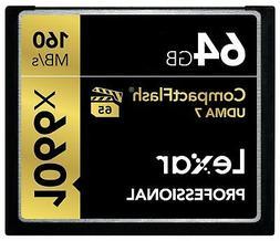 Lexar Professional 1066x 64GB VPG-65 CompactFlash card  LCF6