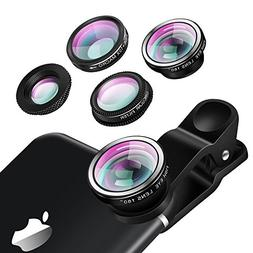 Luxsure Universal 4 in 1 Camera Lens Kit Fish Eye Lens + 2 i