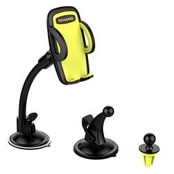Omaker Car Mount Holder 3-in-1 Air Vent Cell Phone Holder Cr