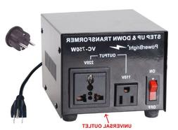 Power Bright VC750W Voltage Transformer 750 Watt Step Up/Dow
