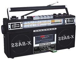 QFX J-22UBK ReRun X Radio and Cassette to MP3 Converter - Bl