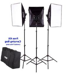 "Fovitec - 3x 20""x28"" Softbox Continuous Lighting Kit -"