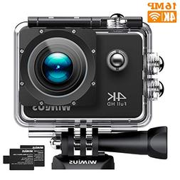 WiMiUS Action Camera 4K Video 16MP 40M Underwater Cameras Sp