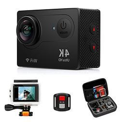 FITFORT Action Camera 4K WiFi Ultra HD Waterproof Sport Came