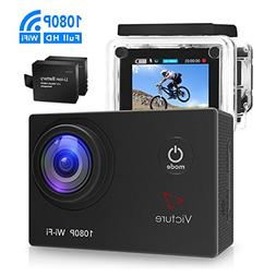 Victure Action Camera WIFI 14MP 1080P HD Waterproof Sports C